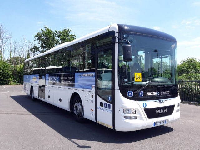 Transport urbain de la ville de Douarnenez avec le réseau TUD'bus