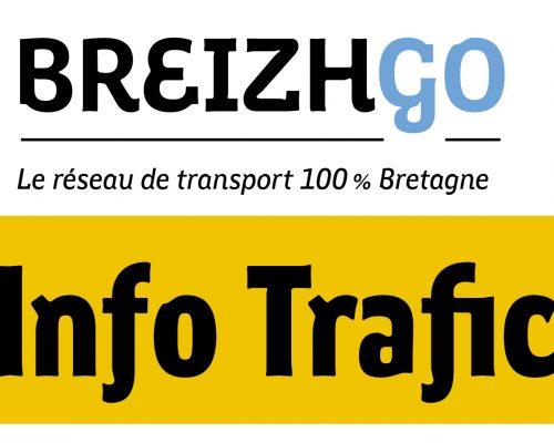 info trafic lignes Breizhgo Finistère