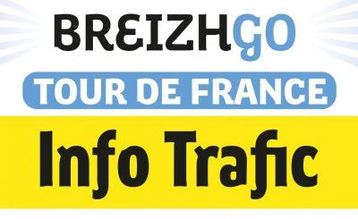 info trafic tour de france finistère breizhgo transport